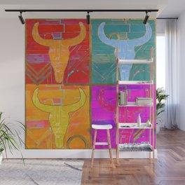 cosmic cowskull viii Wall Mural