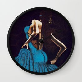 Turquoise Beauty Wall Clock