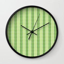 Pattern green green  Wall Clock