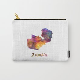 Zambia in watercolor Carry-All Pouch