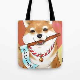 Shiba New Year Tote Bag