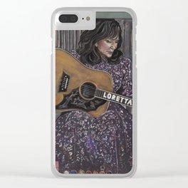 Loretta Lynn Clear iPhone Case