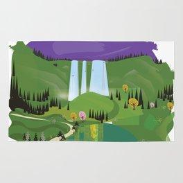 Cartoon landscape Rug
