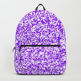 Tiny Spots - White and Violet Backpack