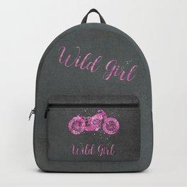 Wild Girl Floral Pink Motorbike Backpack