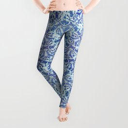 Spiral Snowbursts Pattern Leggings