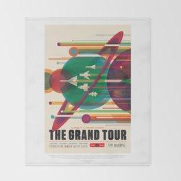 Grand Tour - NASA Space Travel Poster Throw Blanket
