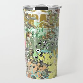 Bird Grid Paste Up Travel Mug