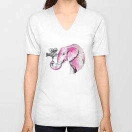 Filming Pink Elephant Unisex V-Neck
