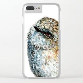 Mr Riroriro, the New Zealand Grey Warbler Clear iPhone Case