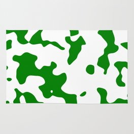 Large Spots - White and Green Rug