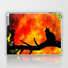 BLACK CAT HARVEST MOON 2018 Laptop & iPad Skin