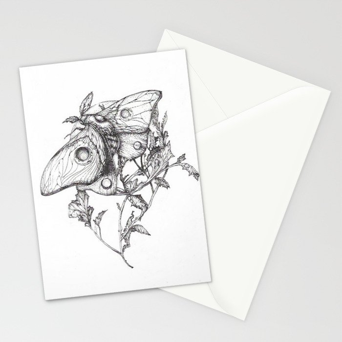 Moon Moth Stationery Cards