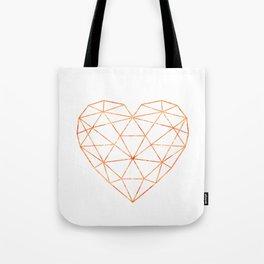 COPPER HEART (WHITE) Tote Bag