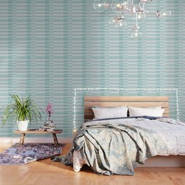 Big Stripes In Turquoise Wallpaper