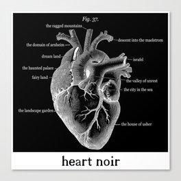 Fig. 37 Heart Noir Canvas Print