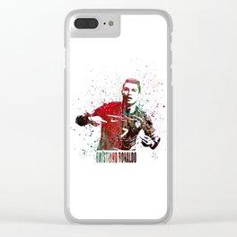 Cristiano Ronaldo #CristianoRonaldo art 2 Clear iPhone Case