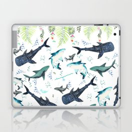 floral shark pattern Laptop & iPad Skin