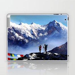Panoramic View Of Ama Dablam Peak Everest Mountain Laptop & iPad Skin