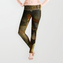With the grace of God and the effort of will we obtain the excellence of virtue Leggings