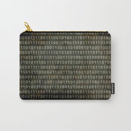 The Binary Code - Distressed textured version Carry-All Pouch