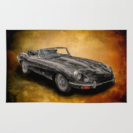 Jaguar E-Type 4.2 convertible Rug