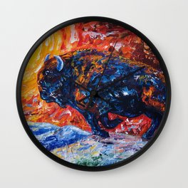 Wild the Storm Wall Clock