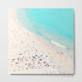 beach love III square Metal Print