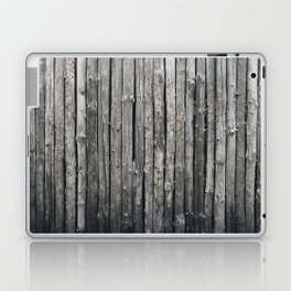 dark vertical wood Laptop & iPad Skin