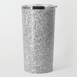 grayscale treemap mosaic Travel Mug