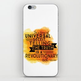 Revolutionary Act - quote design iPhone Skin