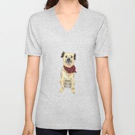 Luna the Pup Unisex V-Neck
