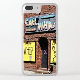 Cafe Wha? Greenwich Village NYC Clear iPhone Case