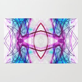 Bending Flowing Lines Symmetrical Abstract Rug