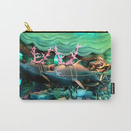 Christmas Dolphins Carry-All Pouch