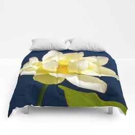Lotus Flower by Teresa Thompson Comforters