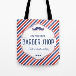 Mr. Moustache Barber Shop Tote Bag