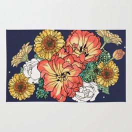 flower bouquet Rug