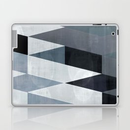 blue abstract, abstract art, office art, contemporary art, geometric print, modern painting, mid cen Laptop & iPad Skin