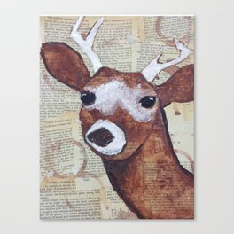 I love you, deerly. Canvas Print