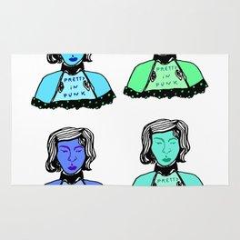 4 Blue Punks Rug