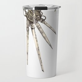 Scissorhands (Sepia-L) Travel Mug
