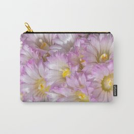 Soft Cactus Blossoms, Desert Floral Art by Murray Bolesta Carry-All Pouch