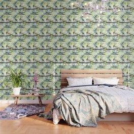 2 black-capped chickadees - bokeh Wallpaper