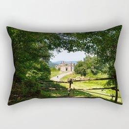 The abandoned ancient Monterano Rectangular Pillow