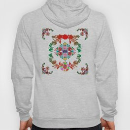 Hungarian 'matyo' folklore styled artwork Hoody
