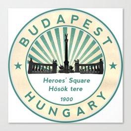 Budapest, Heroes' Square, Hosök tere, Hungary, circle Canvas Print