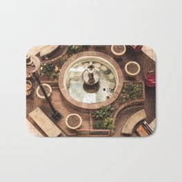 Courtyard Fountain Bath Mat