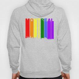 Montreal Quebec Gay Pride Rainbow Skyline Hoody