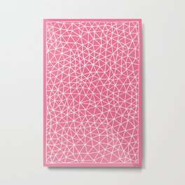 Connectivity - White on Pink Metal Print